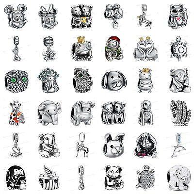 925 Silver European Sterling Animals Charms Bead for Bracelet Chain Necklace US9](Silver Charms For Bracelets)