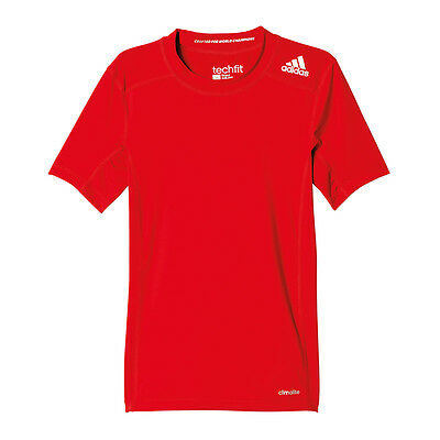 adidas Tech Fit Base Tee T-Shirt Kids Rot