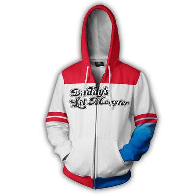 Suicide Squad Joker Harley Quinn 3D Printed Hoodie Sweater Pullover Sweatshirt 1 - Harley Quinn Hoodie