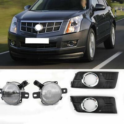 4X L&R Car Front Bumper Fog Lamps Driving Light Covers For Cadillac SRX 2010-16