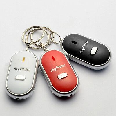Whistling Key Finder Led Flashing Beeping Locator Key Chain W/ Sound Control Pro