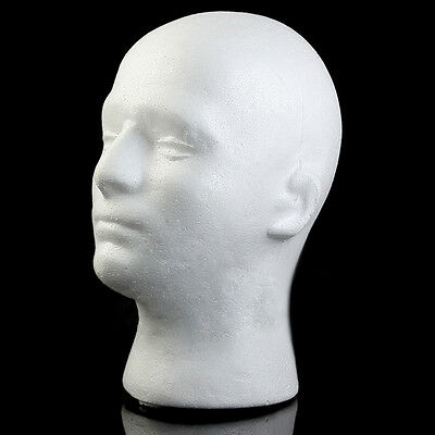 54cm Male Styrofoam Mannequin Manikin Head Model Foam Wig Hair Glasses Display