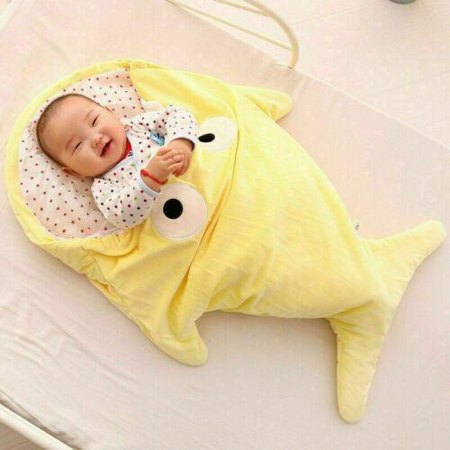 Baby Winter Schlafanzug Schlafsäcke Schlafsack warm niedlich Hai 87cm*55cm