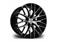 "*Load Rated* x4 20"" Riviera Safire Alloy Wheels VW T5 T6 T6.1 Amarok Bmw"