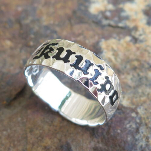 Mens Hawaiian Genuine Sterling Silver Kuuipo Wedding Ring