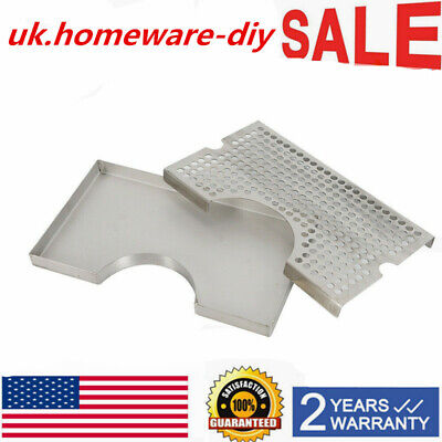 12x7 In Tower Drip Tray For Draft Beer Bar Durable Removable Grate
