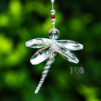 Clear Crystal Dragonfly Prism Suncatcher Pendant Decration Festivel Party Gifts