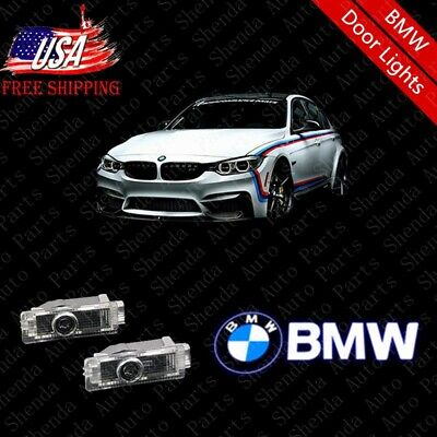 For BMW Car Door 2pc LED Light Logo Projector Easy Installation Emblem Ghost HD.