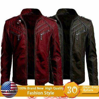 Men Punk Coats Leather Jacket Street Style Cool Motorcycle Gothic Coat Plus Size