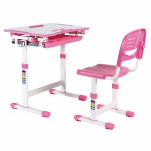 NEWTON - Children's Height Adjustable Study Desk & Chair Set
