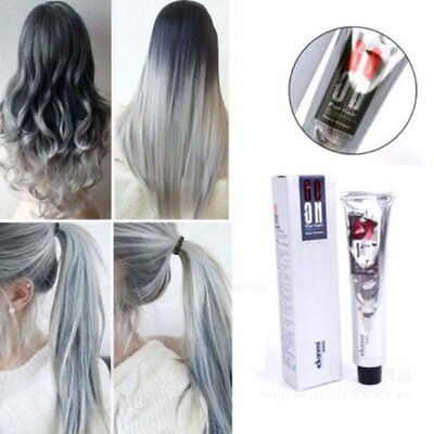 100Ml Smoky Gray Punk Style Light Grey Silver Permanent Hair Dye Color Cream New