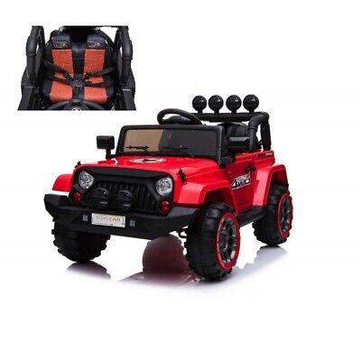 Auto Macchina Elettrica per Bambini Jeep Adventure 12V MP3 Led con Telecomando F