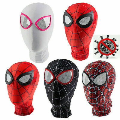 US Seller Adults Kids Spiderman Full Face Mask Hood for germ protection NY covid 19 (masks for germ protection coronavirus)