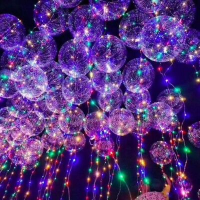 Wholesale 5Pcs/Lot LED Air Balloon 24inch Helium Ball With String Light Flash Li - Balloon With Led Light