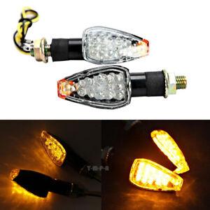 2x Turn Signal LED Dual Sport Motorcycle dirt bike supermoto light blinker Amber