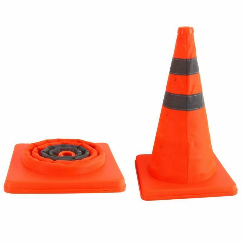 2pcs Collapsible Traffic Cones Pop Up Reflective Parking Emergency Safety Cone