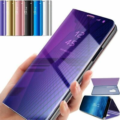 Luxury Mirror Smart Clear View Flip Stand Case Cover For iPhone X 8 7 6 6s Plus