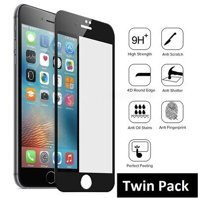 For iPhone 6 7 8 Plus Genuine Full Cover 9D Tempered Glass Screen Protector