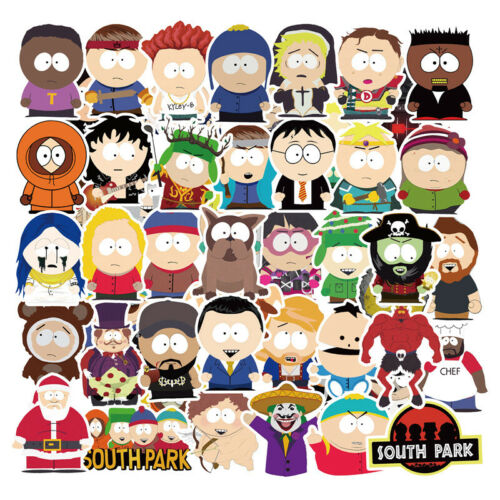 Home Decoration - 50Pcs South Park Stickers Bomb Laptop Refrigerator Luggage Guitar Decal Pack Lot