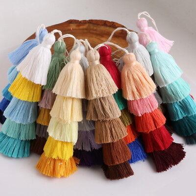 Colorful Tassel Key Ring PomPom Charm Pendant Keychain Bag Handmade Accessories