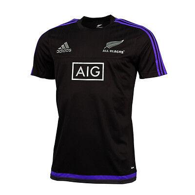 Adidas Rugby T-Shirt All Blacks XL NEU Etikett New Zealand AIG Polo Adizero