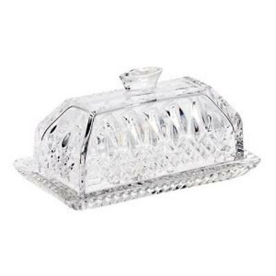 Waterford Crystal Lismore Covered Butter Dish NIB