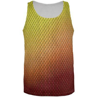 Halloween Red Fire Dragon Scales Costume All Over Mens Tank Top - Mens Dragon Costume