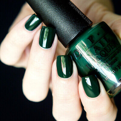 OPI Gwen Holiday CHRISTMAS GONE PLAID Forest Green Creme Nail Polish Lacquer F04 ()