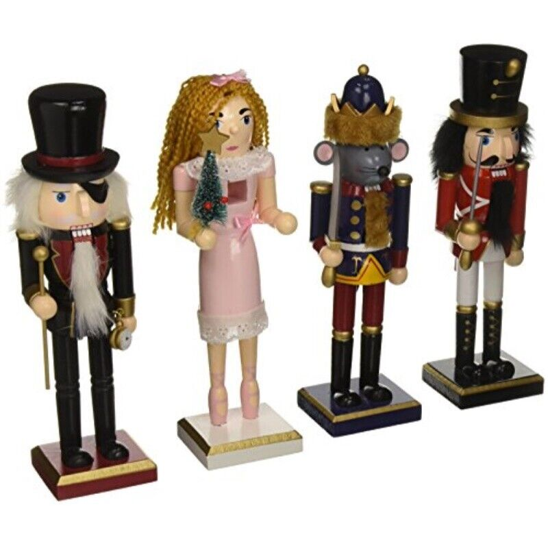 burton and burton christmas character nutcracker figurines set of 4 10