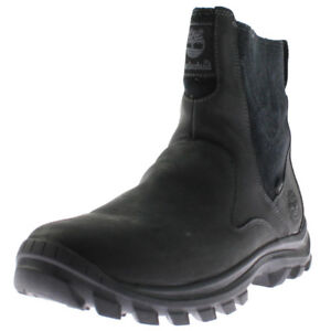 Timberland Mens Black Leather Winter Boots - Waterproof