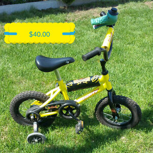Kids bike with training wheels included