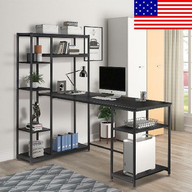 l shaped computer desk home office furniture workstation Tab