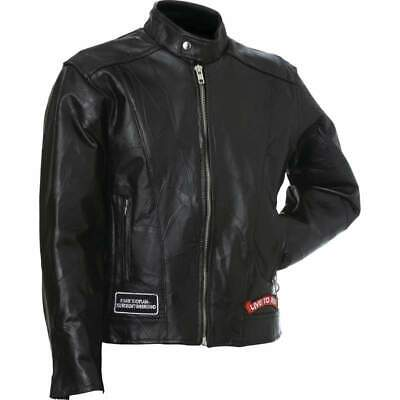 Diamond Plate™ Rock Design Genuine Buffalo Leather Motorcycle Jacket Diamond Plate Motorcycle Jacket