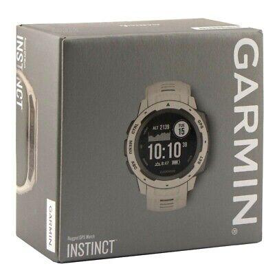 Garmin Instinct GPS Outdoor Fitness Watch Tundra White 010-02064-01 New in Box