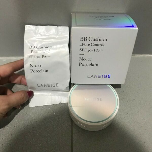Laneige BB Cushion Pore Control + refill no.11 Porcelain