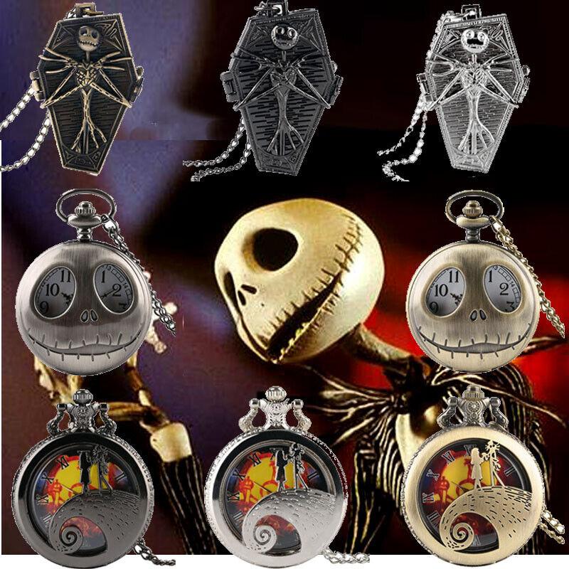 New Steampunk Tim Burton Nightmare Before Christmas Quartz Pocket Watch Gifts