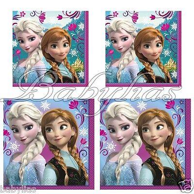 Disney FROZEN Beverage Napkins by Unique Elsa Anna Party Supplies (16 Pieces)](Unique Party Supplies)
