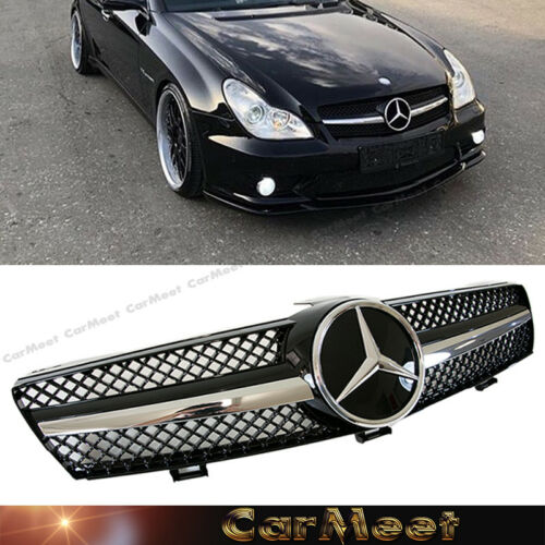 Grille Sport for Mercedes W219 CLS 2004-2008 Gloss Black AMG LOOK