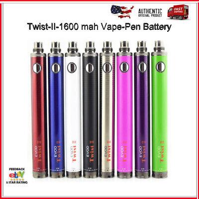 Evod3 Twist-II-1600mAh Vape0Pen Battery-Variable-Voltage-3.3V-4.8V-510 Thread