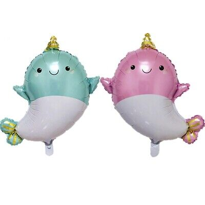 Narwhal Balloon Little Mermaid Under the Sea Birthday Party Decoration Supplies - Under The Sea Birthday Party Supplies