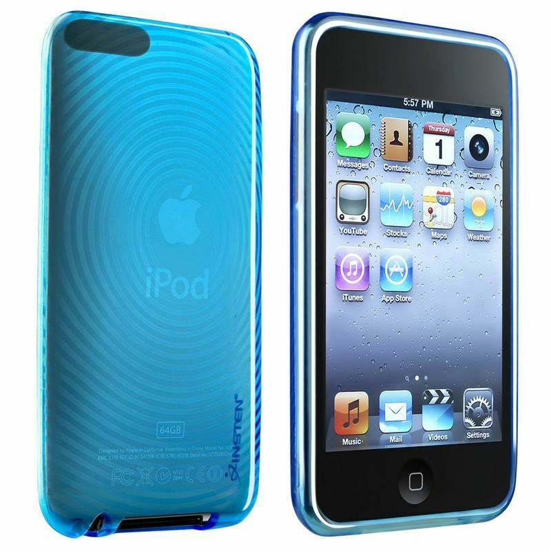 BLUE CRYSTAL SOFT GEL Case Skin Cover For iPod TOUCH 2G 2nd 3G 3rd Gen New