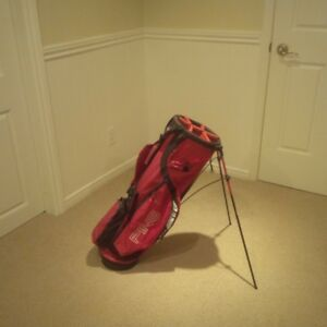 Ping Golf Mit-E-Lite stand bag dual strap red and black great