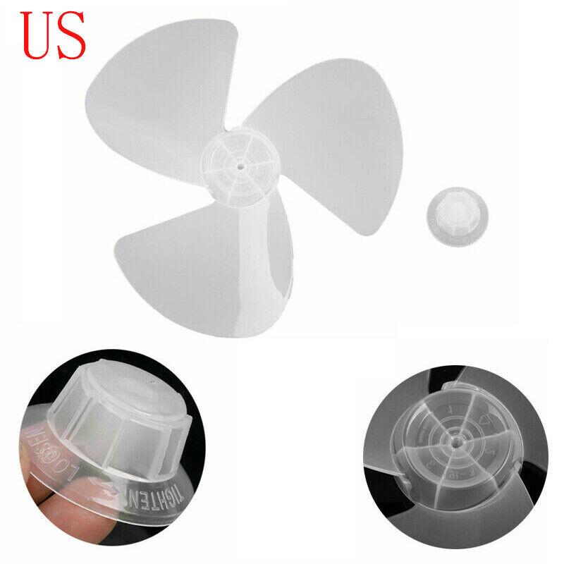 "16/"" Plastic Fan Blade Three Leaves with Nut for Standing Pedestal Fan Table Desk"