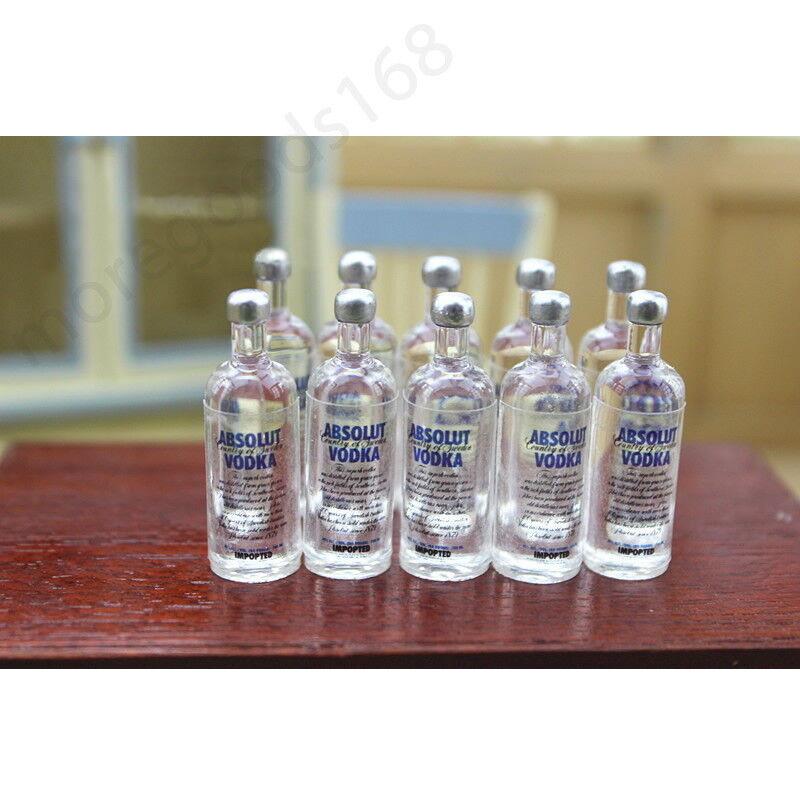 2pcs Miniature Dollhouse Wine Bottle Vodka Drinks Model Doll Toy  Accessory