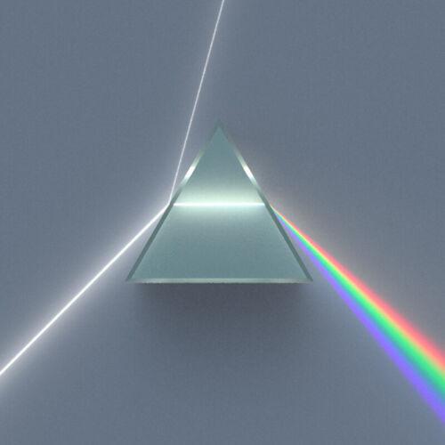 50*30*30mm Rainbow Optical Glass Triple Triangular Prism Physics Teaching 1pc