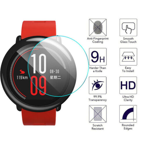 2Pcs 9H Tempered Glass Film Screen Protector Clear Guard For Amazfit Smart Watch