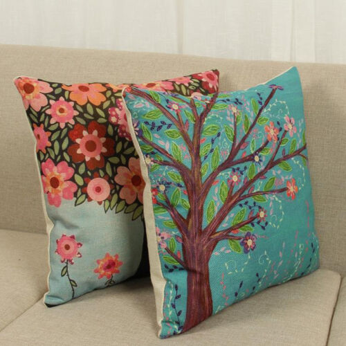Outdoor Floral Leaf Print Pillow Case Throw Cushion Cover Home Car Garden Decor Home & Garden