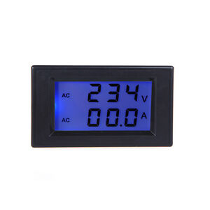 Digital Volt Amp Current Panel Meter Voltmeter Ammeter AC 100A 80-300V 220V UK