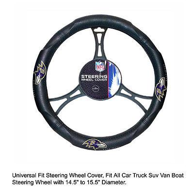 Northwest NFL Baltimore Ravens Car Truck Suv Van Boat Steering Wheel Cover (Ravens Steering Wheel Cover)