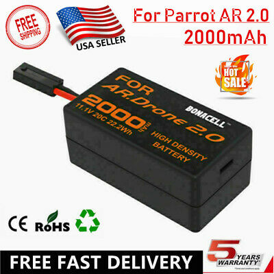 11.1 Volt 2.0AH Lithium-ion polymer Battery for Parrot AR Drone 2.0 Helicopter